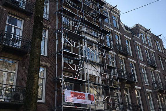 Gevelrenovatie Johannes Verhulstraat Amsterdam
