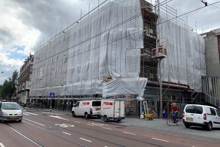 Gevelrenovatie Van Woustraat, Pieter Aertszstraat en Rustenburgerstraat in Amsterdam